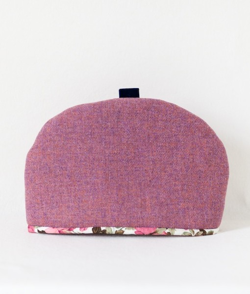 Katherine Emtage heather Harris Tweed large tea cosy