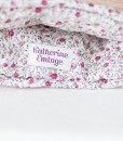 Katherine Emtage pale salmon Harris Tweed tea cosy inside detail