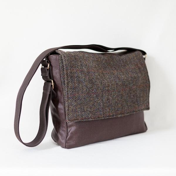 Katherine Emtage Ultimate Man Bag brown Harris Tweed with cordura