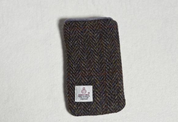 Katherine Emtage Brown Herringbone Check Phone Case Harris Tweed Phone Case Reverse