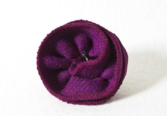 Katherine Emtage Grape Corsage Harris Tweed 1