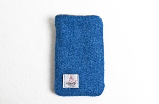Katherine Emtage Peacock Blue Phone Case Harris Tweed